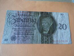 20 Reichsmark Berlin 11 Oktober 1924 Gebr. - 20 Mark