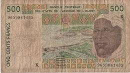 Afrique Ouest : 500 Francs K (très Mauvais état) - Bankbiljetten