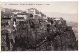 Alg153 CONSTANTINE Algérie Vue Sur Les TUNNELS Du Boulevard ABIME 1910s CHAPELLE 61 Algeria Algerij - Constantine