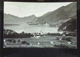 AK Österreich Ansichtskarte Vom Salzkammergut - Strobel Gegen St. Wolfgang Und St. Gilgen Von 1934  Nach Prag - Ohne Zuordnung