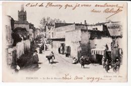 Alg174 TLEMCEN La RUE De MASCARA Scene De..08.05.1903 à CANAT CHIZY Paris Algérie Algeria Algerije Algerien - Tlemcen
