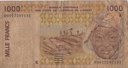 Afrique Ouest : 1000 Francs K (très Mauvais état) - Bankbiljetten