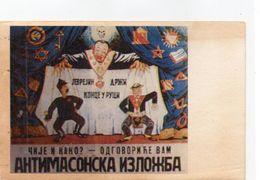 DC2972 - WW2 Propaganda Germany Russland? Juden Judaica Juden-Theater Kasperle Judenstern REPRO - Guerre 1939-45