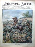 La Domenica Del Corriere 28 Settembre 1913 Manovre Di Cavalleria Cadore Torelli - Libri, Riviste, Fumetti