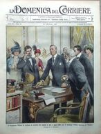 La Domenica Del Corriere 19 Ottobre 1913 Canale Panama Rovigno Trani Mont D'Or - Libri, Riviste, Fumetti
