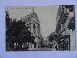 CPA  03 VICHY Perspective De La Rue De Nimes  1912  TBE - Vichy