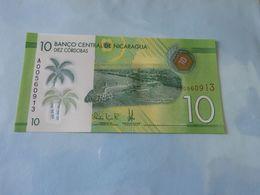 Banknote Nicaragua 10 Cordobas  (Polymer) 2014 Unc - Japon