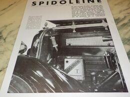 ANCIENNE PUBLICITE ECONOMIE  HUILE SPIDOLEINE 1930 - Other