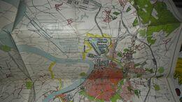 DE HAVEN VAN ANTWERPEN _ ZEER GROTE OUDE KAART_____ BOX : P - Mappe