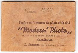 PETIT FASCICULE DE PHOTOGRAPHIE DU MAROC DE 1938 De 13 Photos - Autres