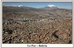 1 AK Bolivien * Blick Auf La Paz - Im Hintergrund Die Berge Nevados Mururata (5868m) Und Illimani (6439m) Luftbild + - Bolivien