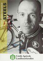 CARTE CYCLISME TOM STEELS SIGNEE TEAM LANDBOUWKREDIET 2008 - Cyclisme