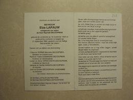 BP 242 - LAPAUW ELZA - LENDELEDE 19.11.1906 - IZEGEM 21.09.1993 - ZIE 2 FOTO'S - Images Religieuses