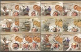 PE185-197 2012 GREAT SCIENTISTS NOBEL PRIZE WINNERS FAMOUS PEOPLE 13BL MNH - Nobel Prize Laureates