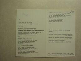 BP 244 - DHONDT ANTOON - KORTRIJK21.10.1922 - KORTRIJK 29.05.1982 - ZIE 2 FOTO'S - Images Religieuses