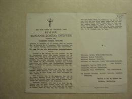 BP 245 - DEWEER ROMANIE - ANZEGEM 27.10.1893 - KORTRIJK 15.11.1988 - ZIE 2 FOTO'S - Images Religieuses