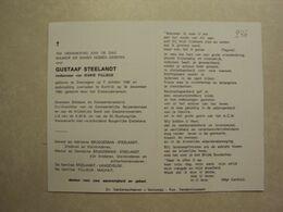 BP 246 - STEELANDT GUSTAAF - ZWEVEGEM 07.10.1888 - KORTRIJK  30.12.1980 - ZIE 2 FOTO'S - Images Religieuses