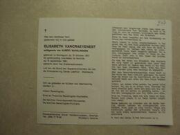 BP 247 - VANCRAEYENEST ELISABETH - WORTEGEM 18.10.1921 - KORTRIJK 15.09.1981 - ZIE 2 FOTO'S - Images Religieuses