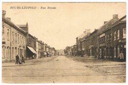 Bourg-Léopold - Rue Royale 1929  (Geanimeerd) - Leopoldsburg