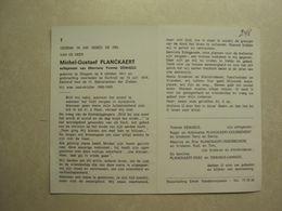 BP 248 - PLANCKAERT MICHEL - OTEGEM 06.10.1911 - KORTRIJK 12.07.1974 - ZIE 2 FOTO'S - Images Religieuses
