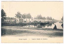 Bourg-Léopold - Canal Et Bassin De Natation 1923   (Geanimeerd) - Leopoldsburg