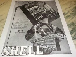 ANCIENNE PUBLICITE 13 SERVICE  SHELL 1930 - Other