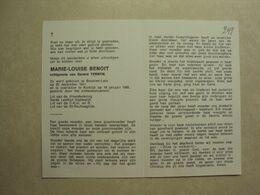 BP 249 - BENOIT MARIE-LOUISE - BEVEREN-LEIE 28.12.1911 - KORTRIJK 18.01.1988 - ZIE 2 FOTO'S - Images Religieuses