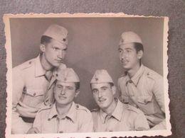 4 SOLDIERS, 4 SOLDATS, ORIGINAL PHOTO - Personnes Anonymes