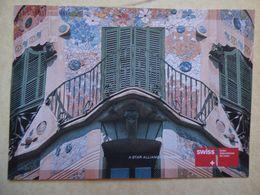 SWISS    AIRLINE ISSUE / CARTE COMPAGNIE  /  LIGNE SUR  PALMA DE MALLORCA - 1946-....: Modern Era