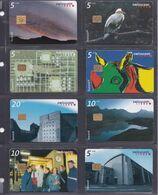 SUISSE 8 Cartes Téléphonique - Schede Telefoniche