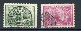 LETTONIE - DIVERS N° Yt 233+234 (Obli.) - Letonia