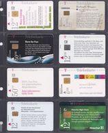 ALLEMAGNE  8 Cartes Téléphonique - Schede Telefoniche
