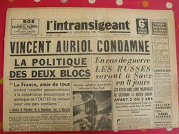 Journal L'Intransigeant Du 23 Septembre 1947. Vincent Auriol Jeanson Levegh Achard Ramadier Coppi Chiron - Journaux - Quotidiens