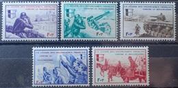 "R1337/407 - 1942 - L.V.F. - SERIE "" BORODINO "" (COMPLETE) - N°6 à 10 NEUFS** - Liberación"