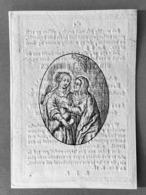 Image Pieuse Anno 1833 - GRAVURE Doodsprentje Décés - Van Sweeveldt Borgerhout - 9 Cm X 6.5 Cm - Images Religieuses