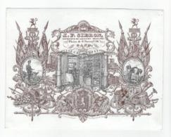 Carte Porcelaine 19,5x 15cm Imprimeur, Plaine De St. Pierre, Gand Libraire Militaire J.P. Sibron, Litho Verhaere C1850 - Ansichtskarten