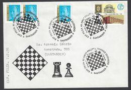 Chess, Spain Santander, Aug 1996, Cancel On Envelope, Commemoration Torres Quevedo - Spiele