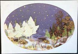 (3552) Winterdroom - Collage Van Gedroogde Bladeren En Bloemen - Jos Van Lint-Ballast - Ansichtskarten