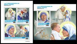 TOGO 2020 - Mother Teresa. M/S + S/S. Official Issue. [TG200202] - Mother Teresa