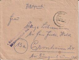 France Lorraine Lettre Feldpost Metz 24.8.1944 - Sin Clasificación