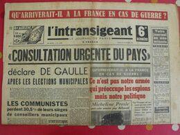 Journal L'Intransigeant Du 28 Octobre 1947. De Gaulle Communistes Micheline Presle Nuremberg Darlan Urban Pagnol - Journaux - Quotidiens