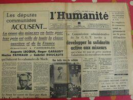 Journal L'Humanité Du 18 Novembre 1948. Collabo Cachin Moch Cause Des Mineurs Garaudy - Journaux - Quotidiens