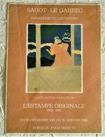 AFFICHE ANCIENNE ORIGINALE EXPOSITION L'ESTAMPE ORIGINALE 1893 1895 Galerie Sagot-Le Garrec Paris 1982 Toulouse Lautrec - Old Paper