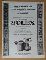 1926 Solex Goudard & Mennesson Neuilly-sur-Seine L'âme Du Moteur Le Carburateur - Publicité - Old Paper