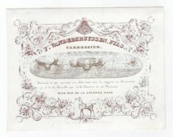 Carte Porcelaine CARROSSIER F. Vandercruyssen, Rue De La Caverne Gand  Koetsen Carrosses Lith. Hemelsoet 18 X 14cm - Ansichtskarten