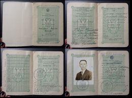 Yugoslavia C1930 Slovenia Croatia Vintage Expired Passport Revenue Stamps Canada BP42 - Old Paper
