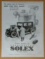 1926 Solex Goudard & Mennesson Neuilly-sur-Seine D'après Théo Roger (carburateur) - Ansart & Teisseire - Publicité - Old Paper