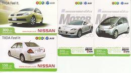 4 X Thailand Phonecard 12Call - 2 X Nissan + 2 X Motor Expo - Thaïlande