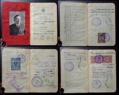 Yugoslavia C1926 Slovenia Croatia Vintage Expired Passport Revenue Stamps Canada Austria Gb Uk BP43 - Old Paper