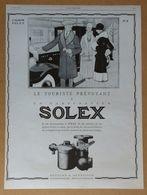 1927 Solex Goudard & Mennesson Neuilly-sur-Seine D'après Jean Routier (carburateur)-Rolland-Pilain - Automoto -Publicité - Old Paper